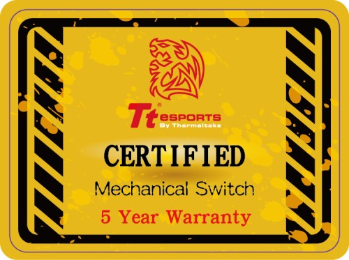 Tt eSPORTS certified mechanical switch with 5-year warranty