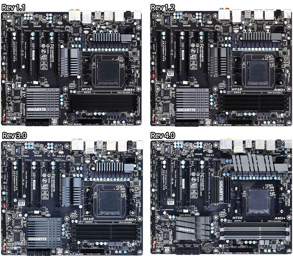 medium resolution of revision 1 1 through 4 0 of the gigabyte 990fxa ud3 motherboard