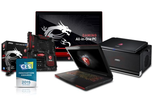 MSI Gaming Notebooks, All-in-One PC and Motherboard Named as 2015 CES Innovations Honoree