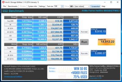 Win10 OS+Videos 75% full - - 0-Fill