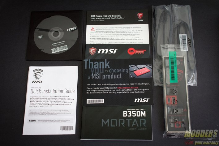 MSI B350M Mortar Motherboard Accessories