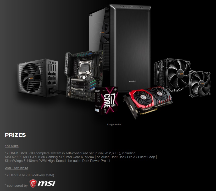 Win a complete Dark Base System - MSI