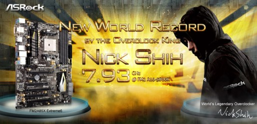 Nick Shih hits 7.93GHz With AMD A10-5800K Overclocked To 7.93GHz