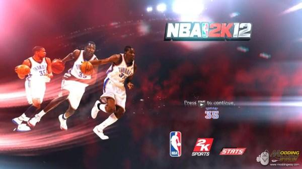 Kevin Durant startup screen NBA 2K11