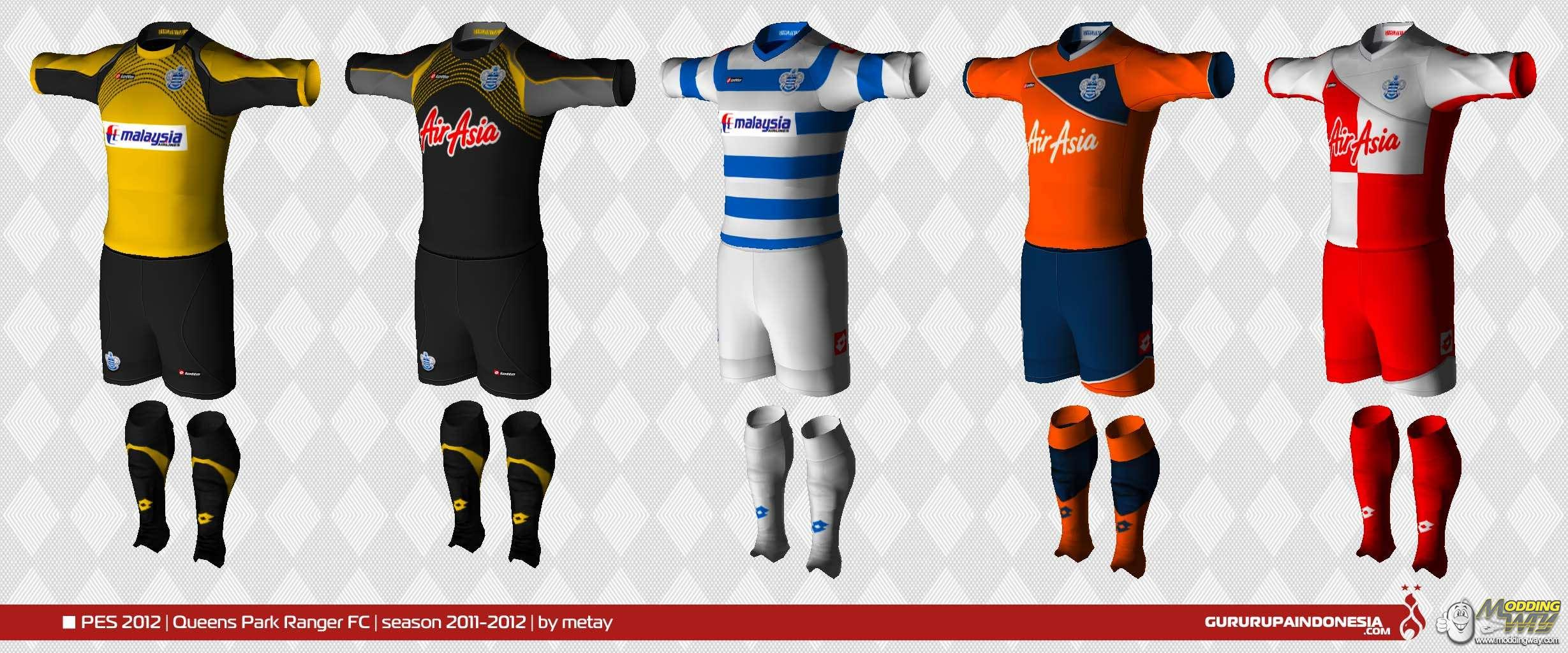 Queens Park Rangers 11 12 Kits By Metay Pro Evolution Soccer 2012