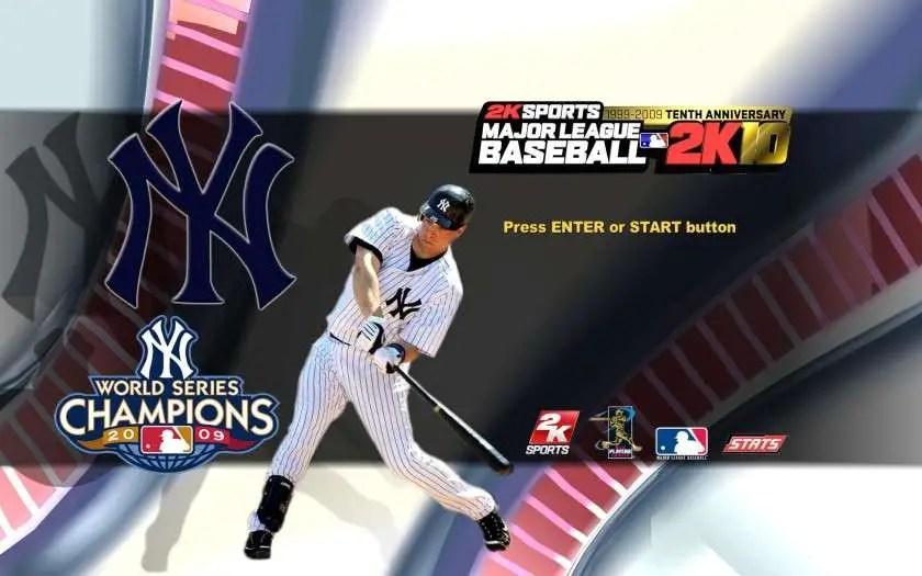 Mark Teixeira Startup Screen Major League Baseball 2K10