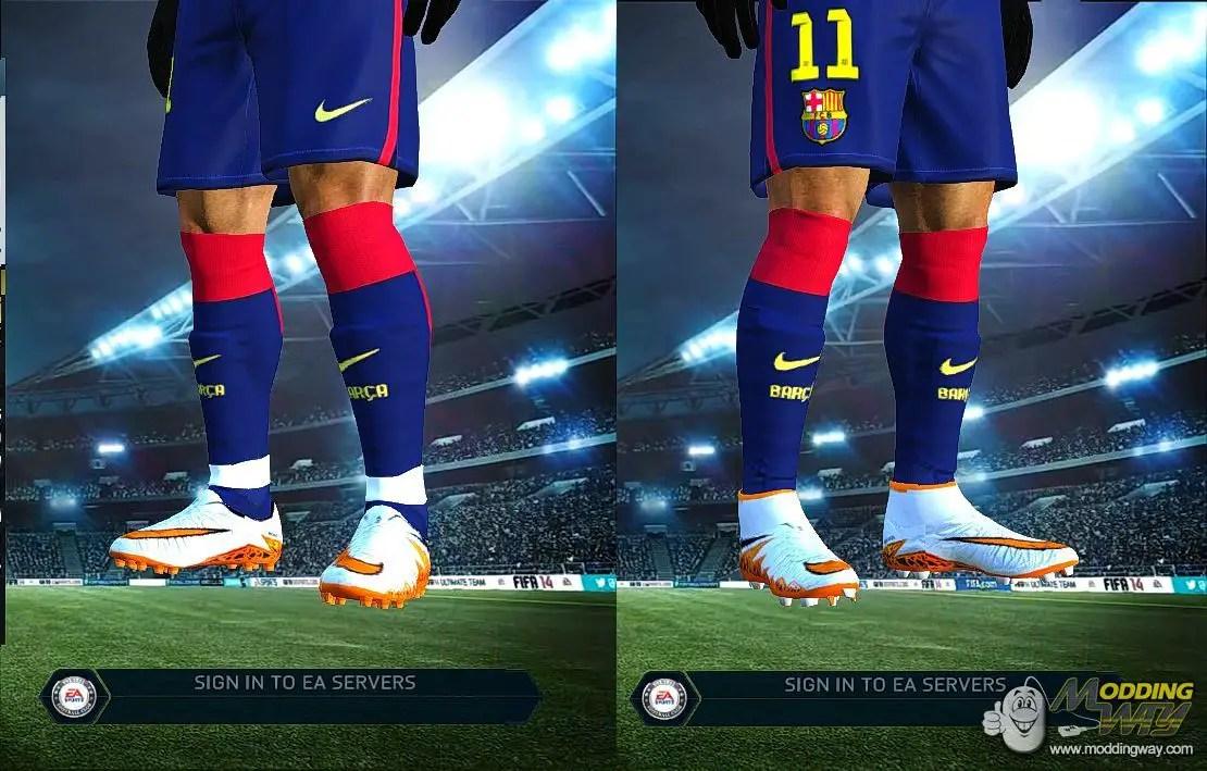 Nike Hypervenom 2 Neymar With And Without Socks FIFA 14