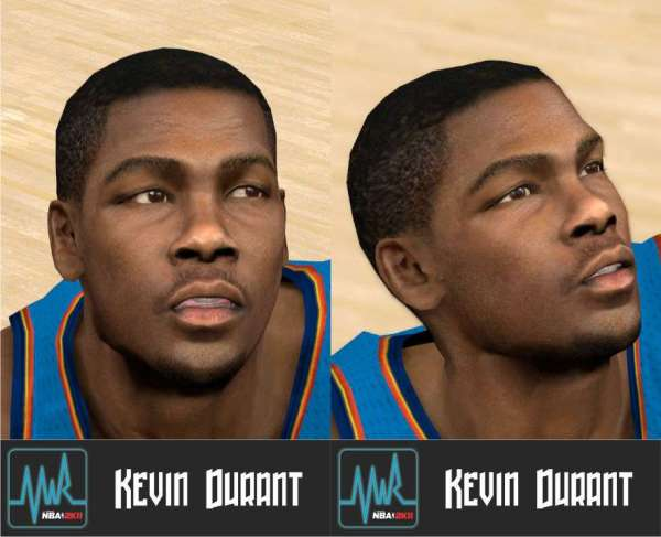 Kevin Durant Cyber Face NBA 2K11