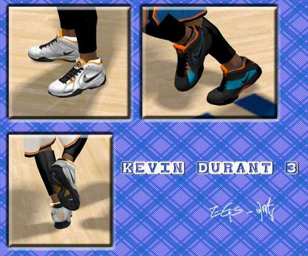 Kevin Durant KD3 Shoes NBA 2K11