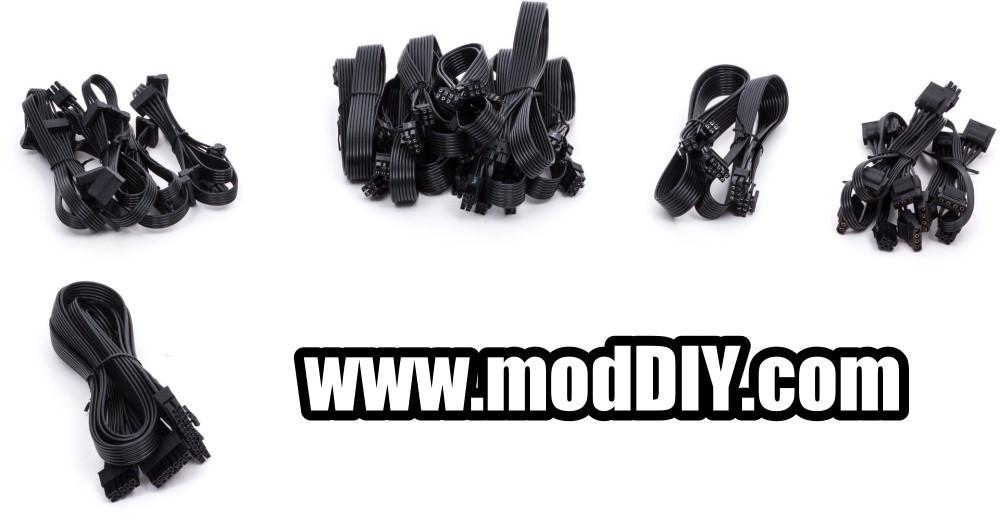 Corsair Custom Length Premium Black Ribbon Modular Cable