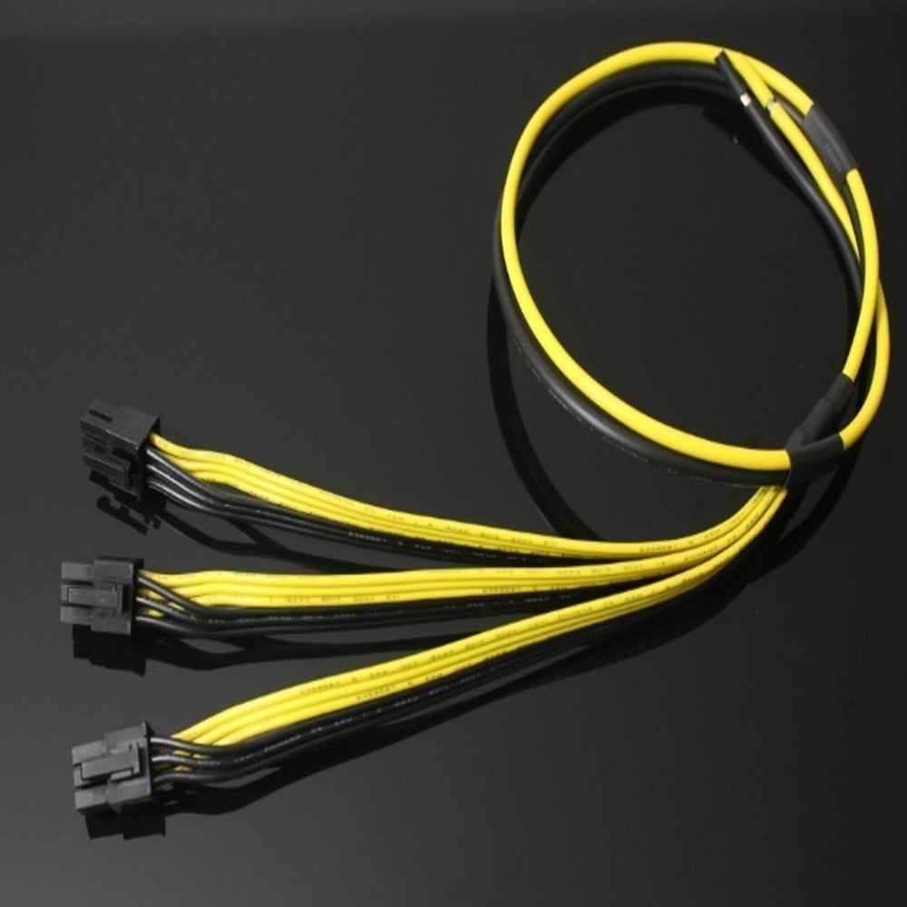 hight resolution of bitcoin ethereum mining triple 6pin pcie to open end split power cable moddiy com