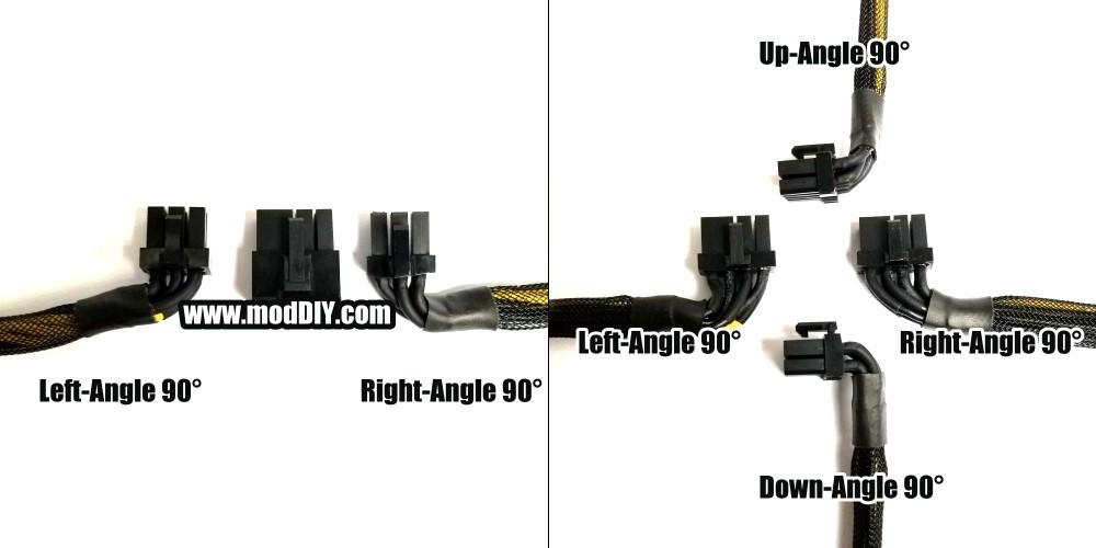 PCIE 90° L-Shape Mini Low-Profile GPU Power Cable (8-Pin