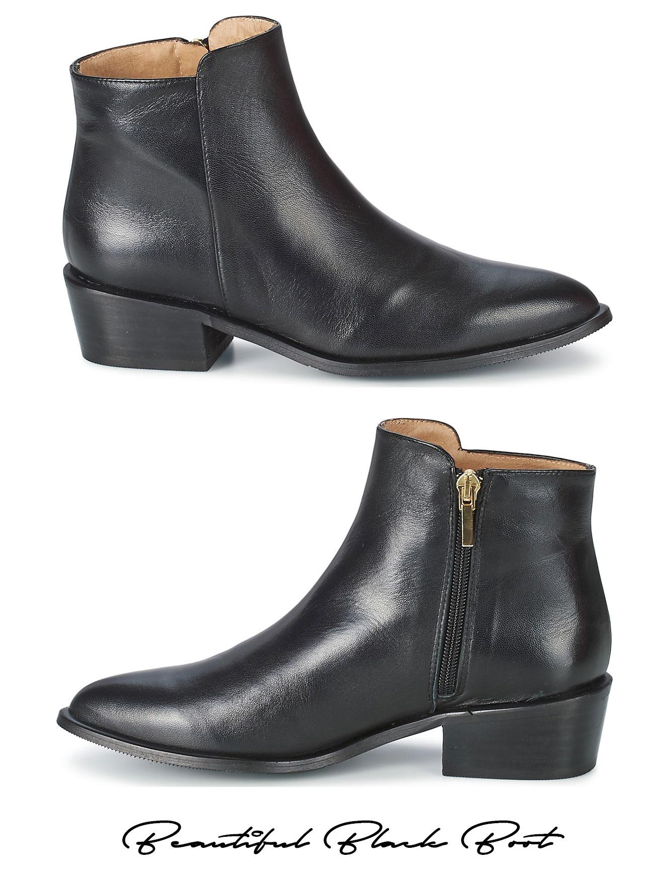20309ba0b45 Sorte læderstøvler