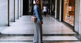 Maxikjole og ny taske fra Milano
