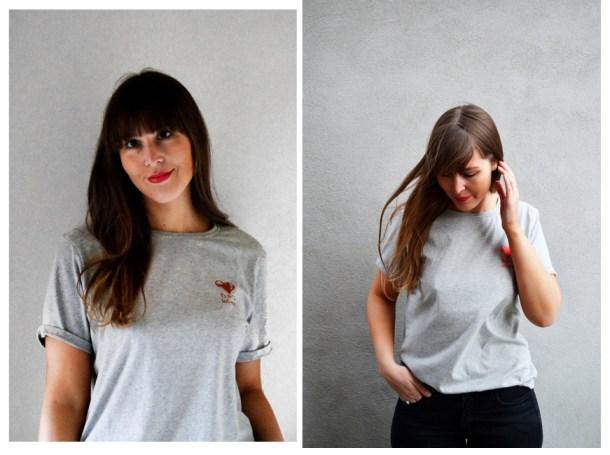 t-shirt i økologisk bomuld