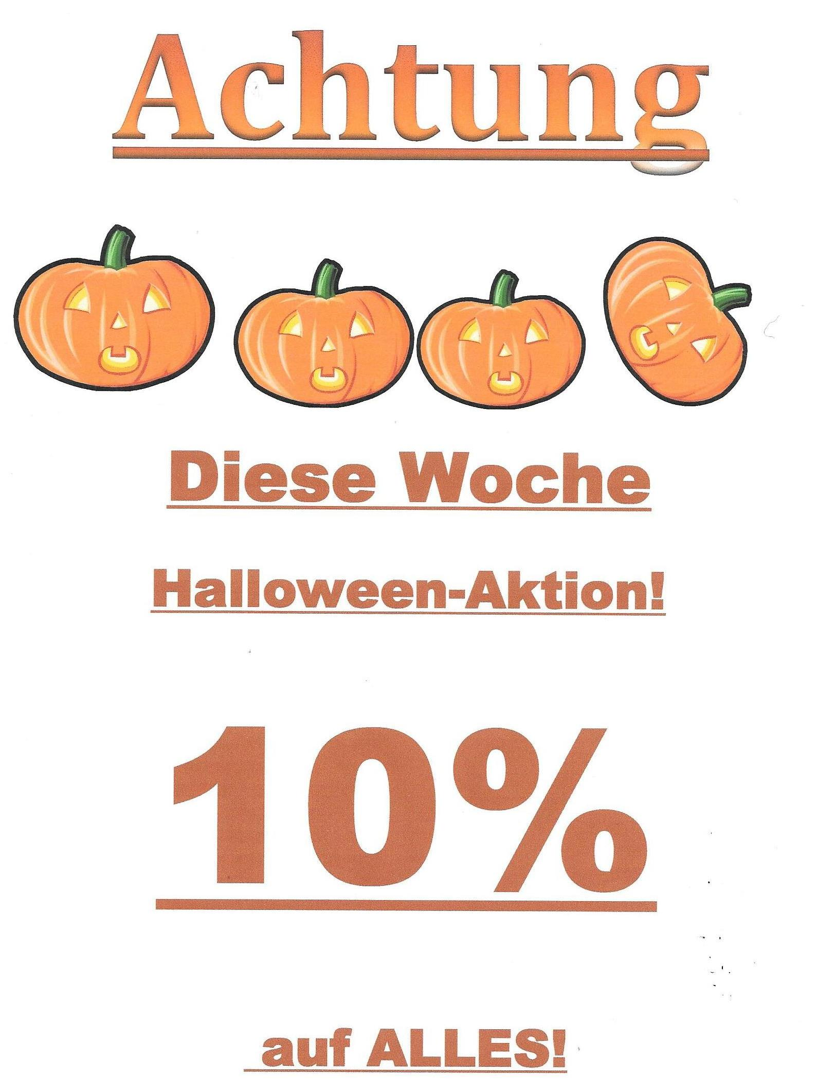 Aktion zu Halloween