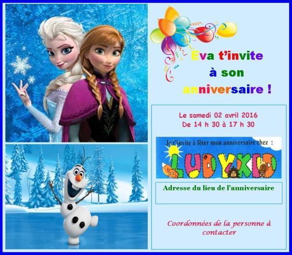 Invitation anniversaire Eva dossier B