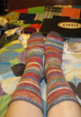 Random stripes, perfect socks!
