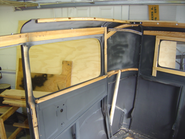 With The Body Panels Re Assembled Interior Wood Is Being Installed