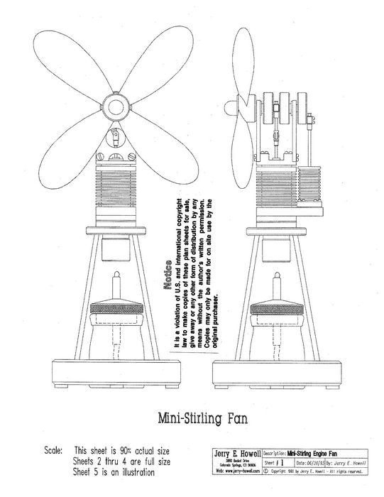 Free Stirling Engine Plans Diagrams Free Stirling Engine