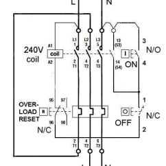 Wiring Diagram Of A Single Phase Dol Starter S13 Sr20det Schematic Direct Online Motor Centrifugal For