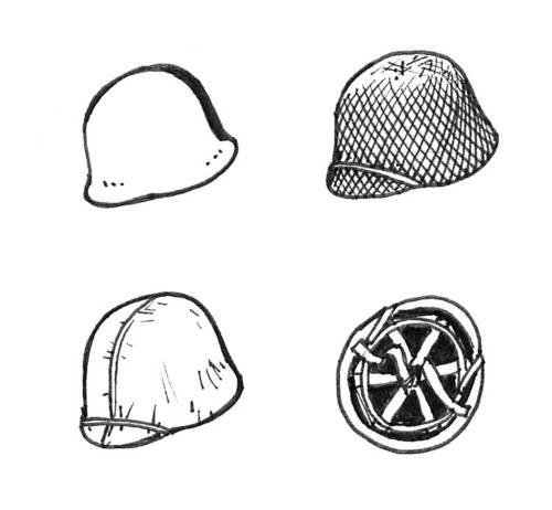 US WW II Helmets (6 pcs) CMK B35083