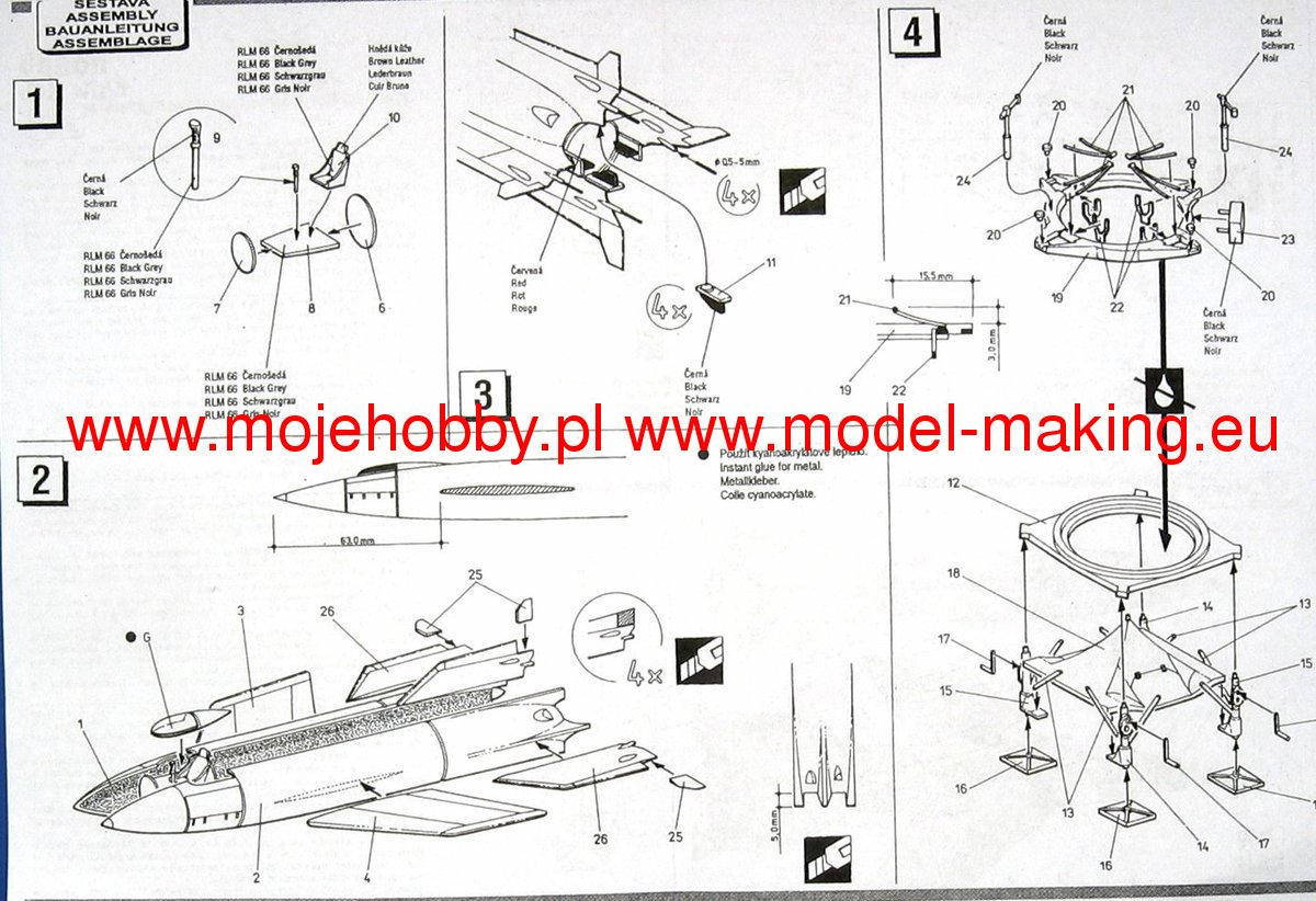 Rocket A4b (piloted version) Special Hobby 72010