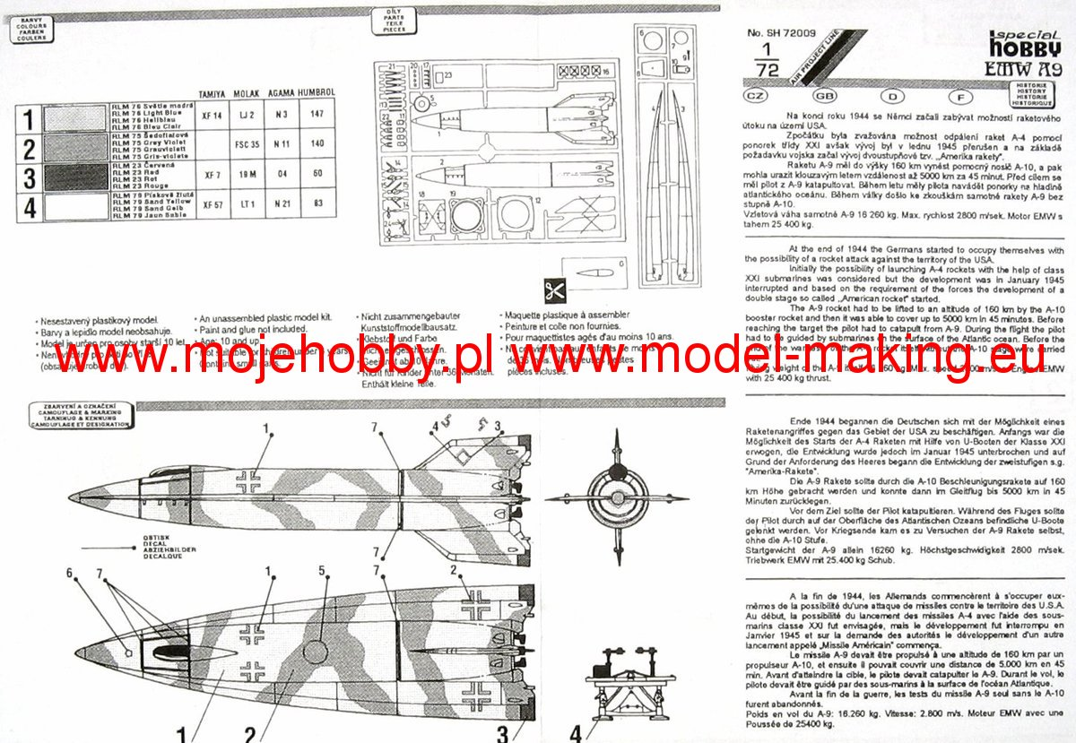 Rocket A9 (piloted version) Special Hobby 72009