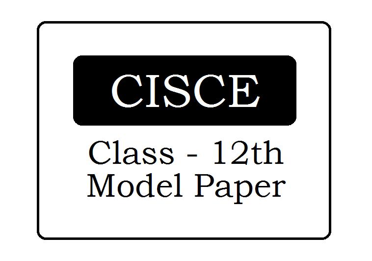 CISCE ISC Important Questions 2020 Bit Question Paper Download