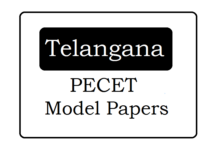 TS PECET Model Papers 2021 Download with Sample Question