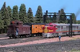 model railroad scene