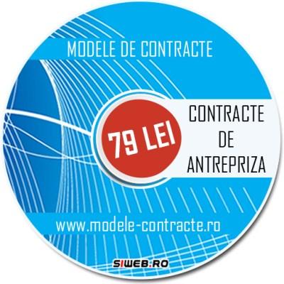 model contract antrepriza