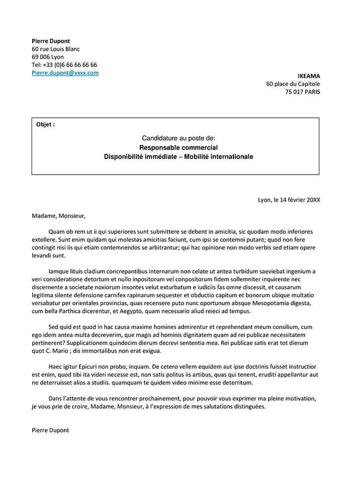 image modele de la lettre de motivation modele cv