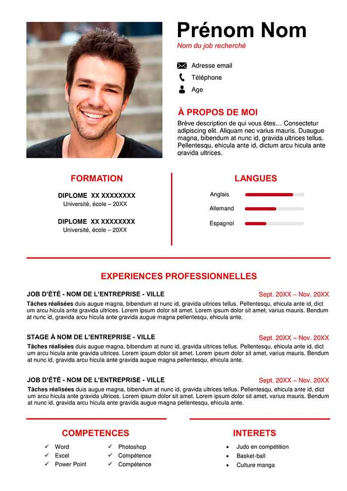 Modele De Cv Word Gratuit All New Resume Examples Resume