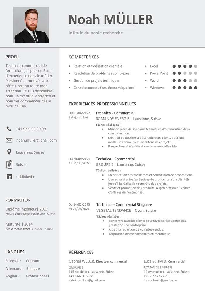 cv design suisse