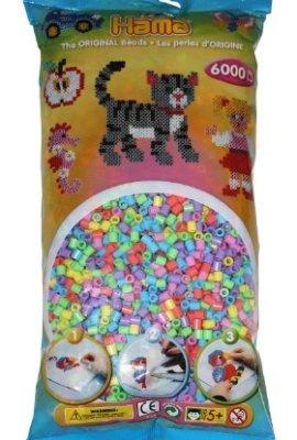 Hama-205-50-Loisirs-Cratifs-Perles-et-Bijoux-Sachet-6000-Perles-Pastel-Mixte-0