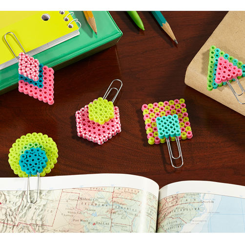Paperclip-Bookmarks perles hama marque page