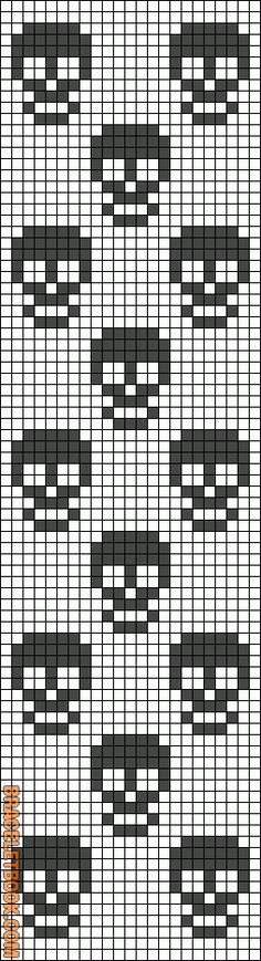tete-de-mort-skull-perles-a-repasser-hama-noir