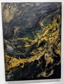 "**ITEM NOW SOLD** Original encaustic on panel by Corrie LaVelle,, Seattle artist. ""Numinous: Being both fearful and awed by what is before you"". 48"" x 36"" 2500.-"