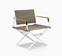 **ITEM NOW SOLD**Pair Dedon seaX arm chair. Armrest with sea-bent plywood finish. Original List: $2800.-/ pair. Modele's Price: 1500./ pair