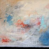 "Michele Harps. 'Dot Com'. Acrylic on canvas. 36"" x 36"". 1300.-"