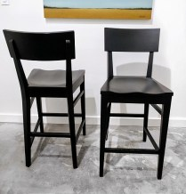 **ITEM NOW SOLD**Pair Ethan Allen 'Impressions' counter stools. Approx one year old. Original