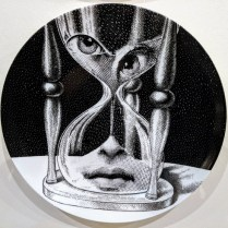 "**ITEM NOW SOLD** Fornasetti 'Theme & Variations' Plate #184. Never used, original packaging included. 10.25"" dia. Current List Price: $185.- Modele's Price: 95.-"