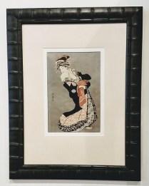 """** ITEM NOW SOLD.**Framed Japanese Print 1. Custom framed at magnolia Frame Shop.24""""x31.25"""".225.-"""