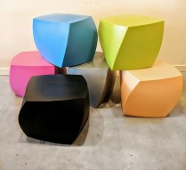 **ITEMS NOW SOLD** Frank Gehry 'Left Twist Cubes.' Current list: $250.- each. Modele's Price: 75.
