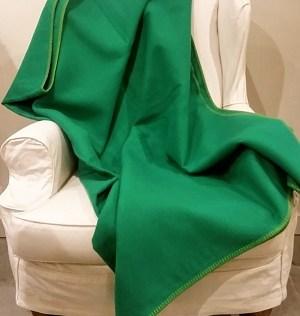 Block Color Green Fuzzy Fussenegger Throw.