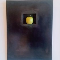 "** ITEM NOW SOLD.**Gulassa &Co. Wall hanging. Design by David Gulassa. Blackened Steel. 17.75""w x 24""h.250.-"