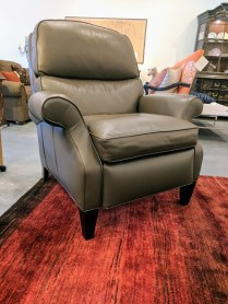 **ITEM NOW SOLD**Hancock and Moore 'Soho' recliner. Purchased 7 years ago at the Seattle Design Center. Treated leather for easy care. Very light use. Original List:: $4980.- Modele's Price: 1950.-