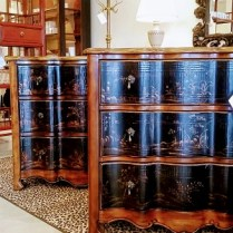 ** ITEM NOW SOLD.**'Hooker Co. 3 drawer chest has one broken pull. : 395.-One available.