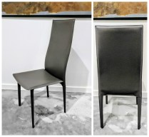** ITEM NOW SOLD.**Set of 6 Kasala Dining Chairs. Bonded Leather.595.- set/6